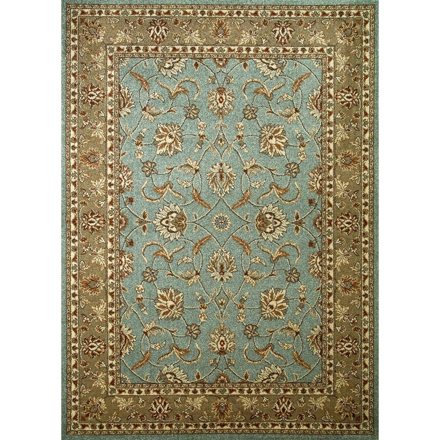 Concord Global Hampton Blue Rectangular Indoor Machine-Made Oriental Area Rug (Common: 3 x 5; Actual: 3.25-ft W x 4.58-ft L x 3.25-ft Dia)