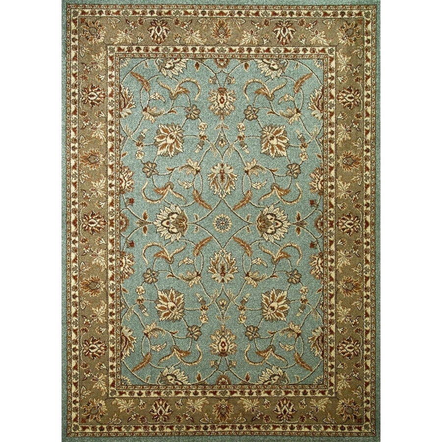 Concord Global Hampton Blue Rectangular Indoor Woven Oriental Area Rug (Common: 3 x 5; Actual: 39-in W x 55-in L x 3.25-ft Dia)