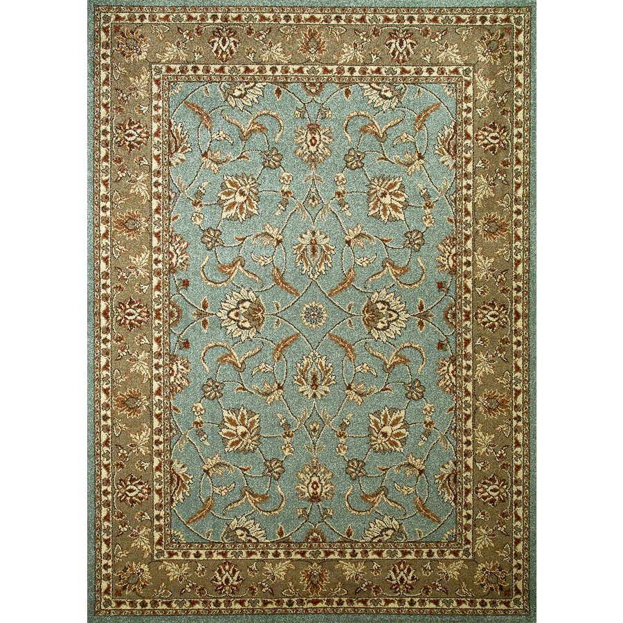 Concord Global Hampton Blue Rectangular Indoor Woven Oriental Area Rug (Common: 5 x 7; Actual: 5.25-ft W x 7.25-ft L x 5.25-ft Dia)