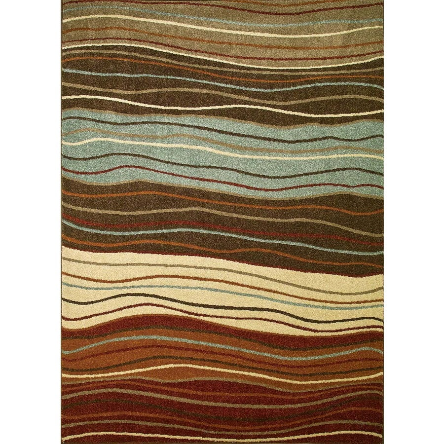 Concord Global Hampton Multicolor Rectangular Indoor Woven Area Rug (Common: 8 x 11; Actual: 7.83-ft W x 10.5-ft L x 7.83-ft Dia)