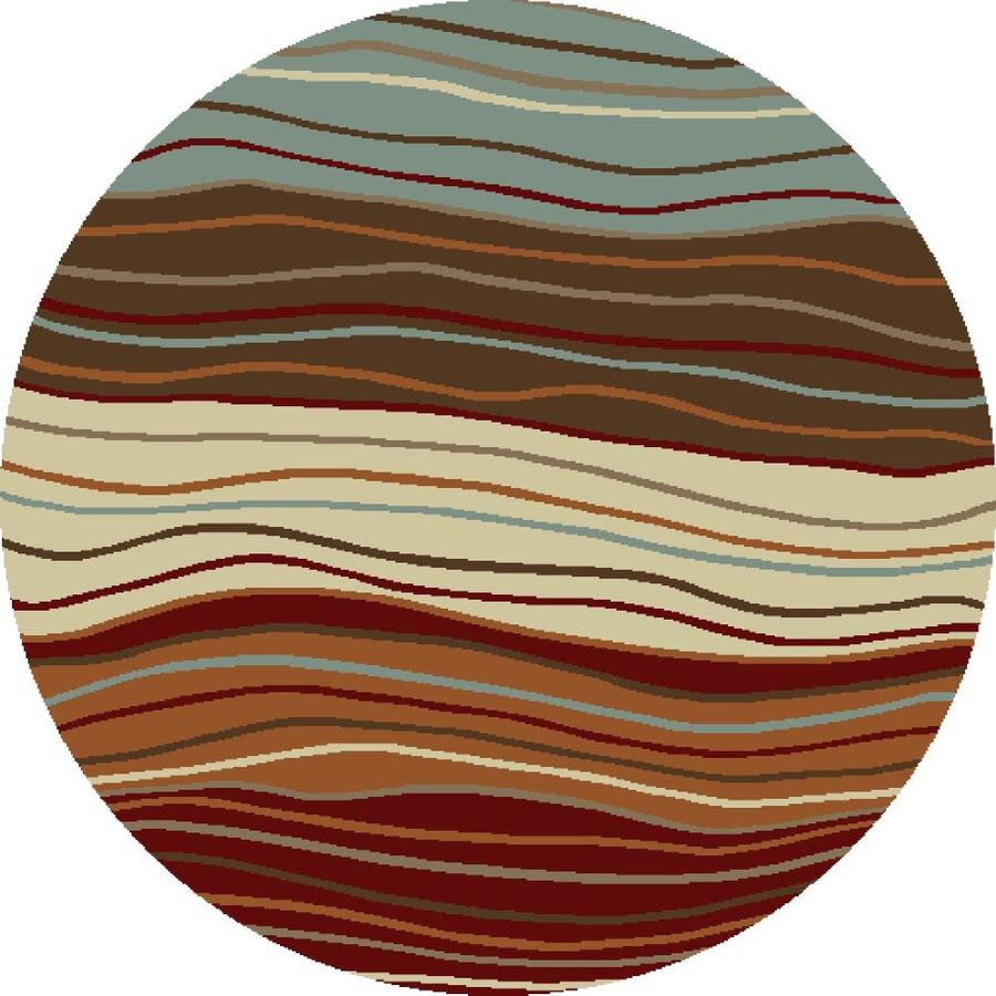 Concord Global Hampton Multicolor Round Indoor Area Rug (Common: 8 x 8; Actual: 7.83-ft W x 7.83-ft L x 7.83-ft dia)