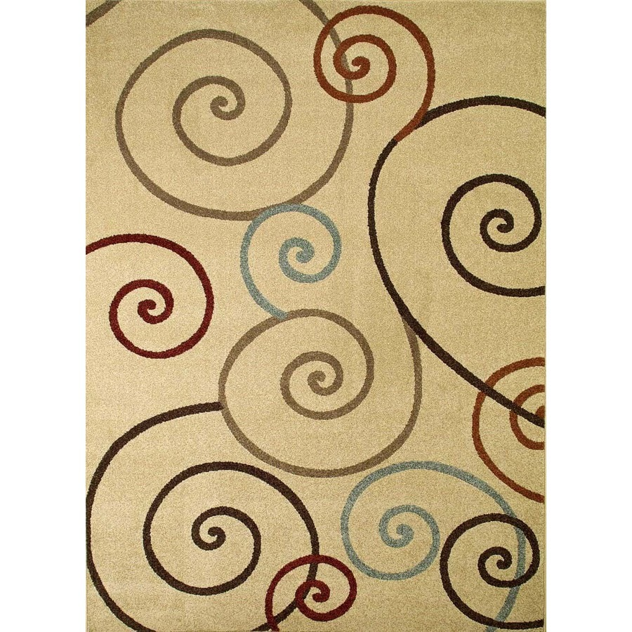 Concord Global Hampton Ivory Rectangular Indoor Machine-Made Area Rug (Common: 8 x 11; Actual: 7.83-ft W x 10.5-ft L x 7.83-ft Dia)