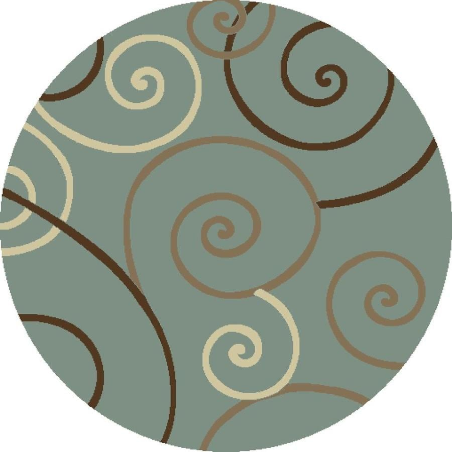 Concord Global Hampton Blue Round Indoor Woven Area Rug (Common: 5 x 5; Actual: 5.25-ft W x 5.25-ft L x 5.25-ft Dia)