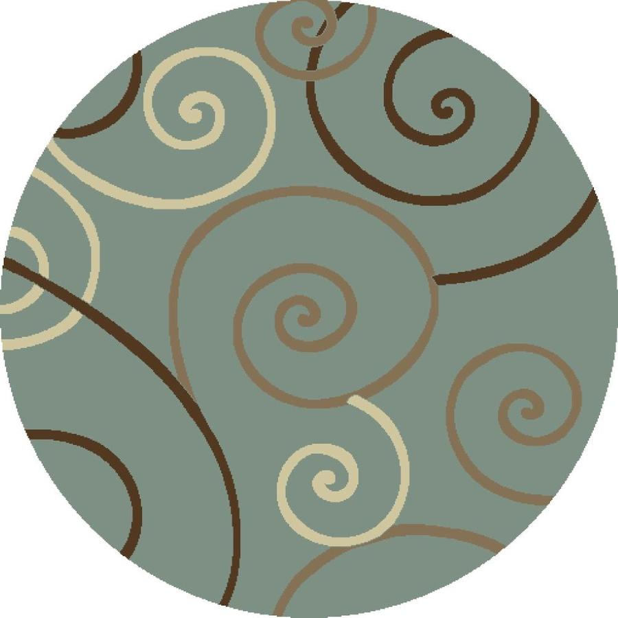 Concord Global Hampton Blue Round Indoor Woven Area Rug (Common: 8 x 8; Actual: 94-in W x 94-in L x 7.83-ft Dia)