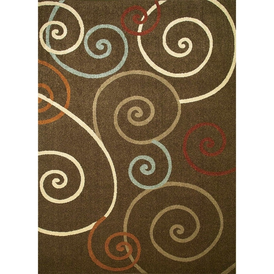 Concord Global Hampton Brown Rectangular Indoor Woven Area Rug (Common: 3 x 5; Actual: 3.25-ft W x 4.58-ft L x 3.25-ft Dia)