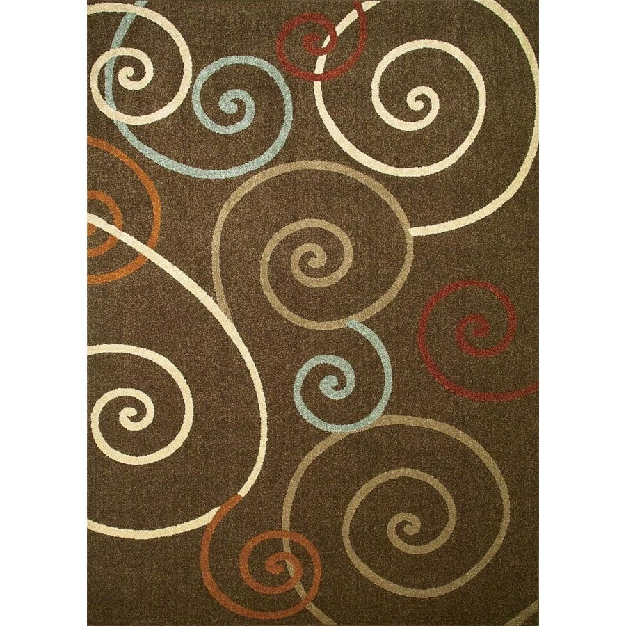 Concord Global Hampton Brown Rectangular Indoor Woven Area Rug (Common: 7 x 10; Actual: 6.58-ft W x 9.5-ft L x 6.58-ft Dia)