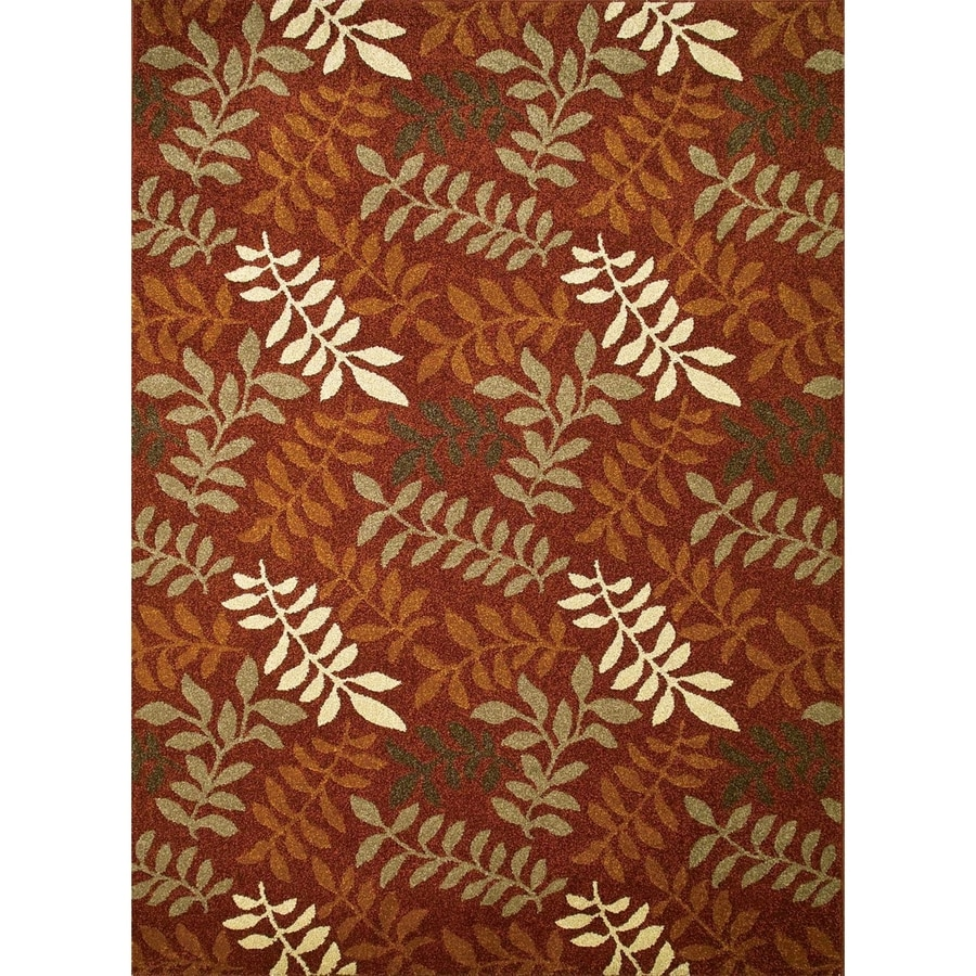 Concord Global Hampton Red Rectangular Indoor Woven Nature Area Rug (Common: 3 x 5; Actual: 3.25-ft W x 4.58-ft L x 3.25-ft Dia)