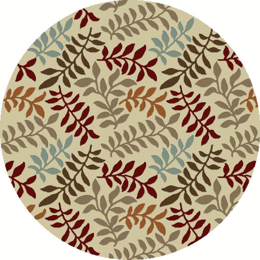 Concord Global Hampton Ivory Round Indoor Woven Nature Area Rug (Common: 5 x 5; Actual: 5.25-ft W x 5.25-ft L x 5.25-ft Dia)
