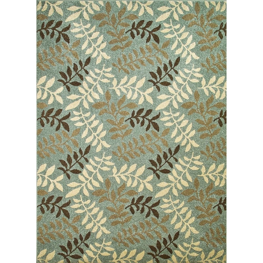 Concord Global Hampton Blue Rectangular Indoor Woven Nature Area Rug (Common: 3 x 5; Actual: 3.25-ft W x 4.58-ft L x 3.25-ft Dia)