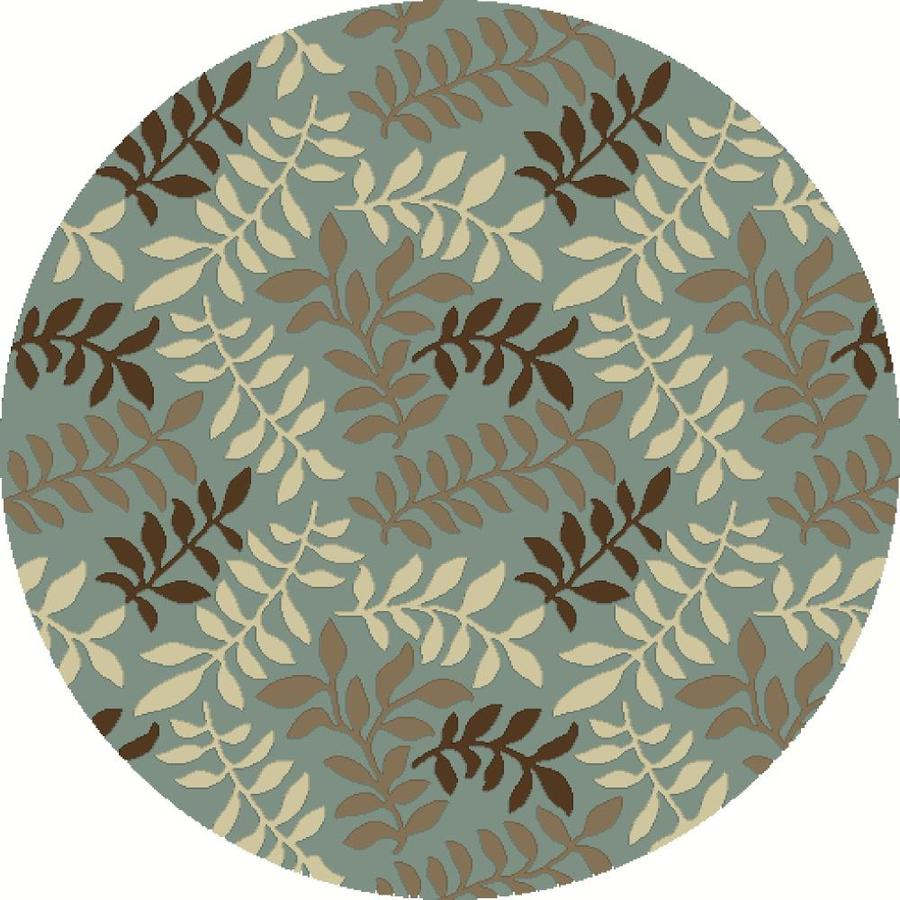 Concord Global Hampton Blue Round Indoor Woven Nature Area Rug (Common: 8 x 8; Actual: 7.83-ft W x 7.83-ft L x 7.83-ft Dia)