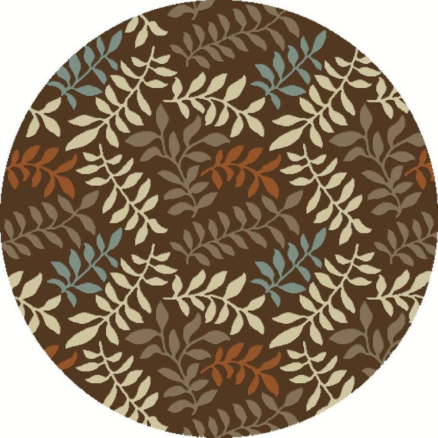 Concord Global Hampton Brown Round Indoor Nature Area Rug (Common: 5 x 5; Actual: 5.25-ft W x 5.25-ft L x 5.25-ft dia)