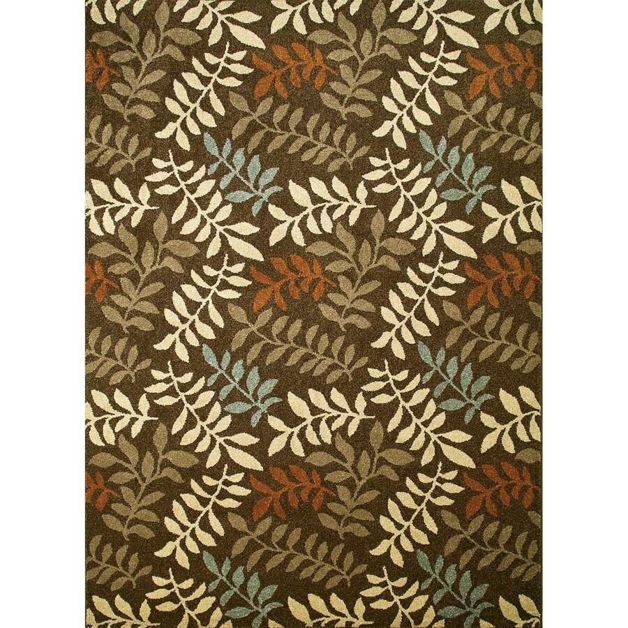 Concord Global Hampton Brown Rectangular Indoor Woven Nature Area Rug (Common: 3 x 5; Actual: 3.25-ft W x 4.58-ft L x 3.25-ft Dia)
