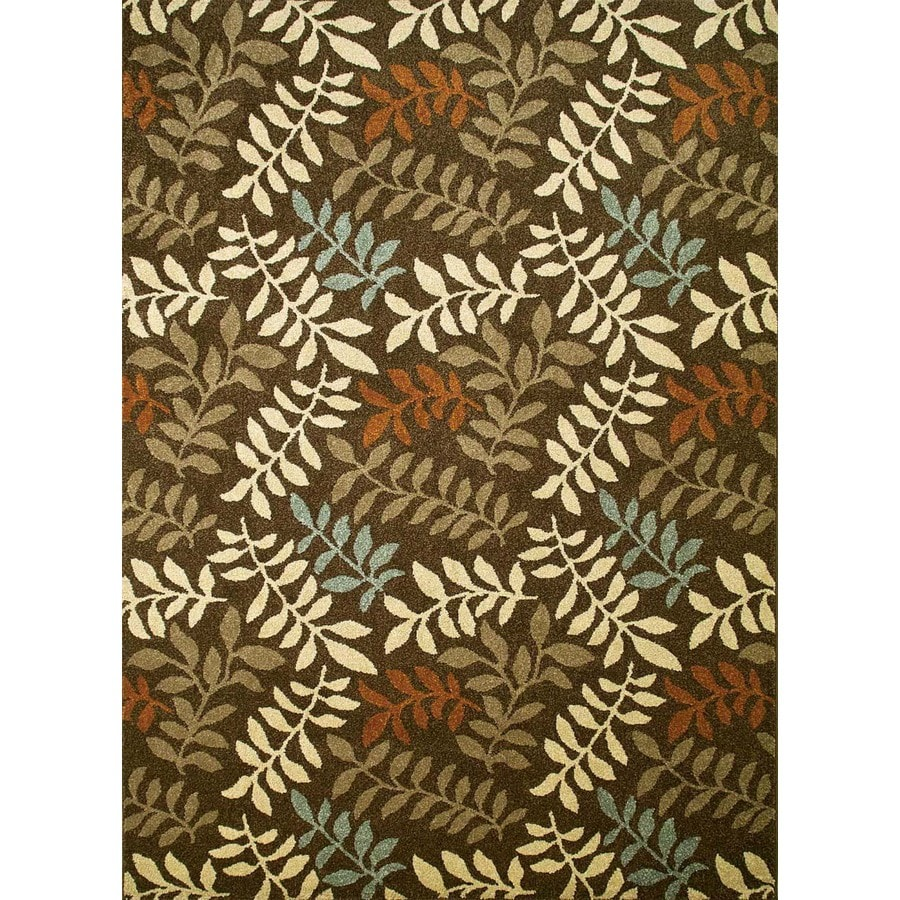 Concord Global Hampton Brown Rectangular Indoor Woven Nature Area Rug (Common: 7 x 10; Actual: 79-in W x 114-in L x 6.58-ft Dia)
