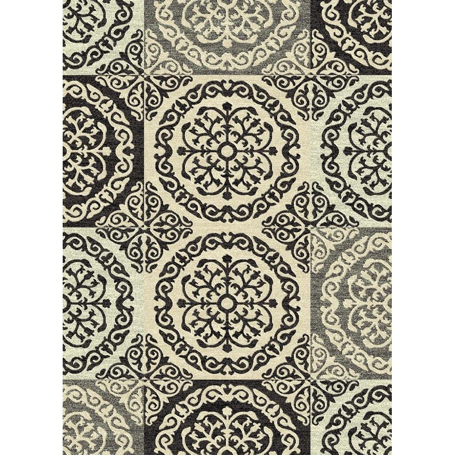 Style Selections Gabany Black Rectangular Indoor Woven Area Rug (Common: 5 x 8; Actual: 5.25-ft W x 7.5-ft L x 5.25-ft Dia)