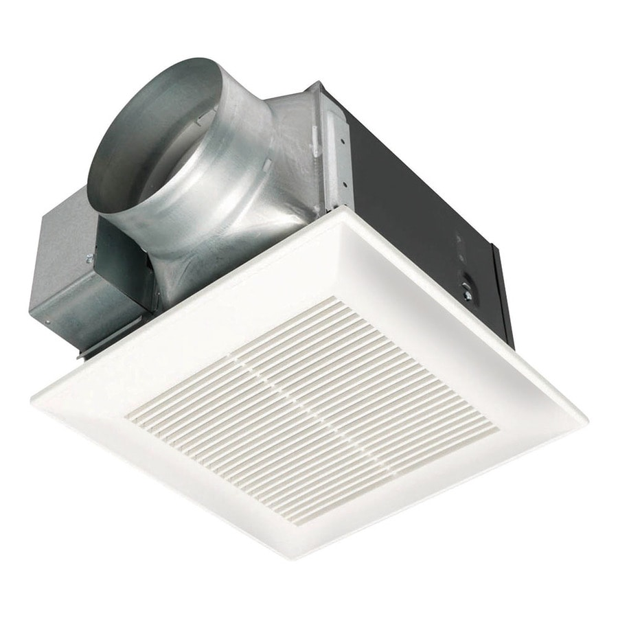 Shop Panasonic Sone CFM White Bathroom Fan ENERGY STAR At - Panasonic bathroom ventilation fan