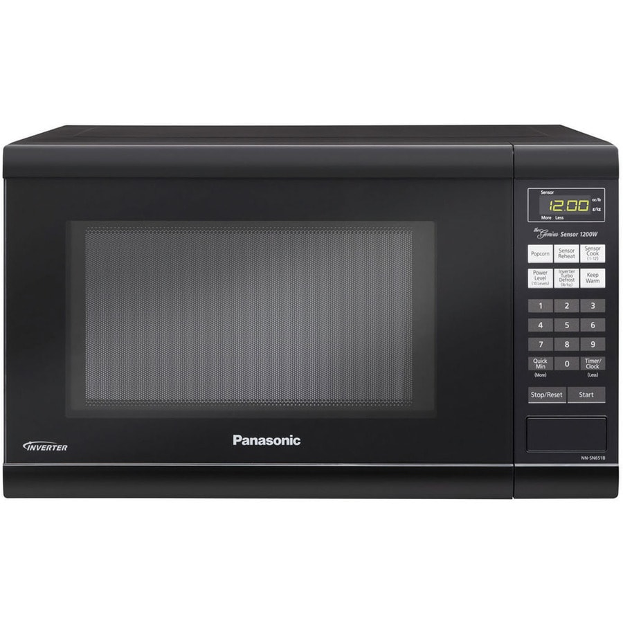 Panasonic 1.2-cu ft 1,200-Watt Countertop Microwave (Black)