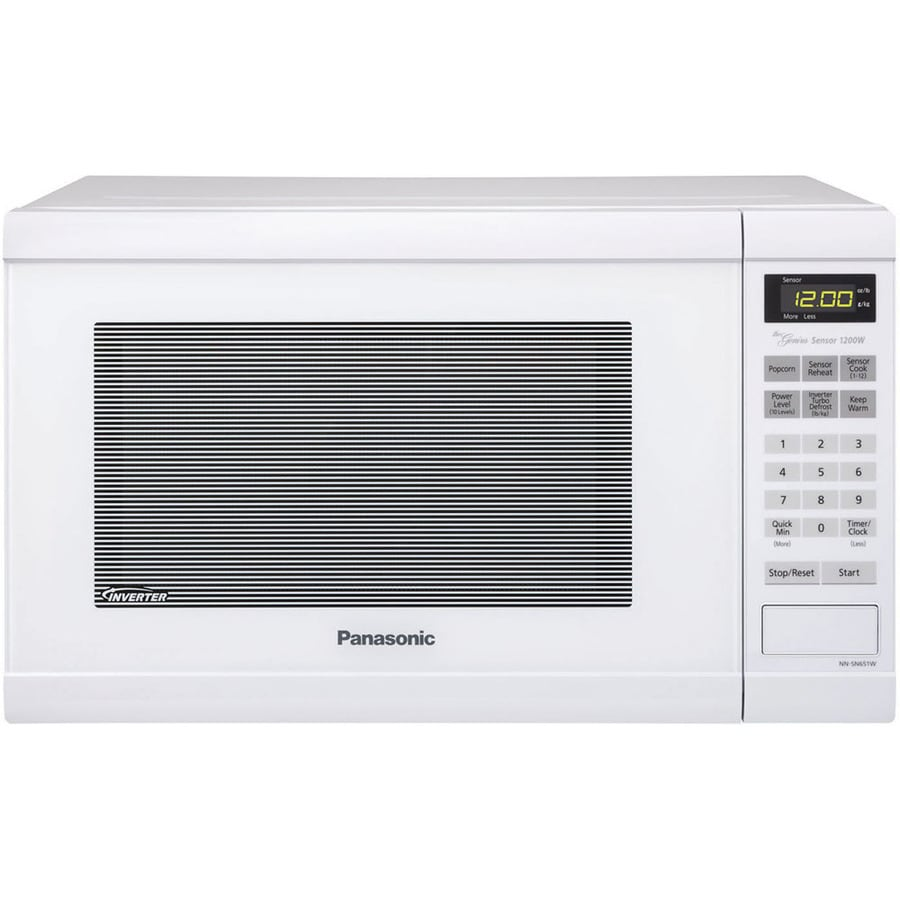 Panasonic 1 2 Cu Ft 1 200 Watt Countertop Microwave White