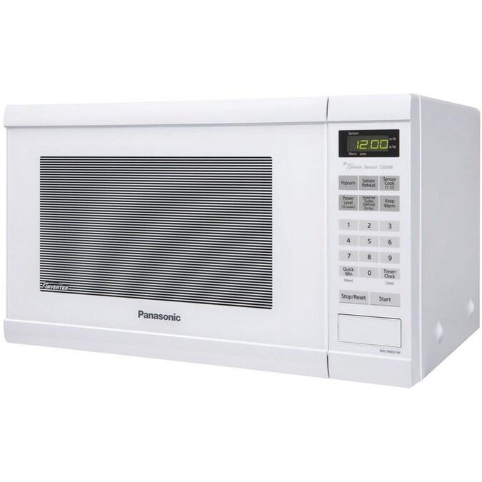Panasonic 1.2-cu ft 1200-Watt Countertop Microwave (White ...