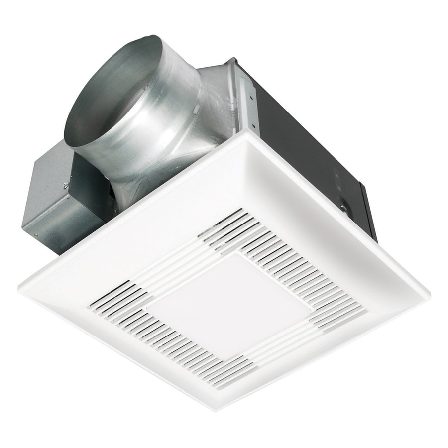 Panasonic 0.9-Sone 150-CFM White Bathroom Fan with Light ENERGY STAR