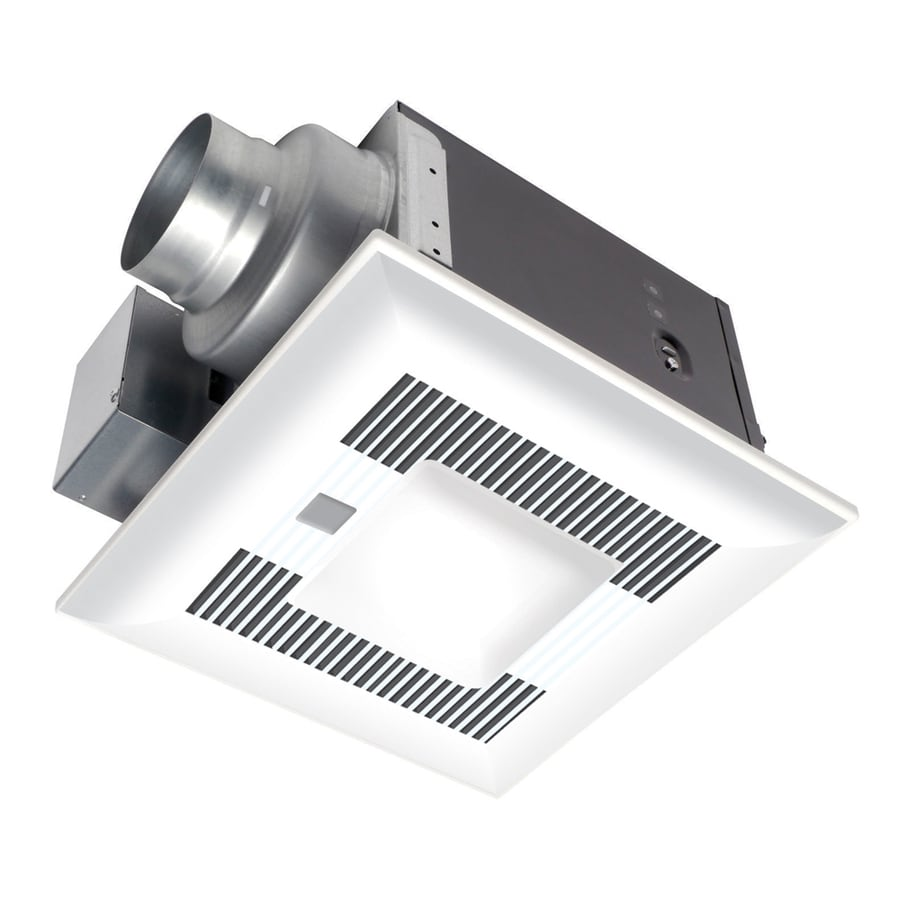 Panasonic 0.4-Sone 110-CFM White Bathroom Fan with Light ENERGY STAR