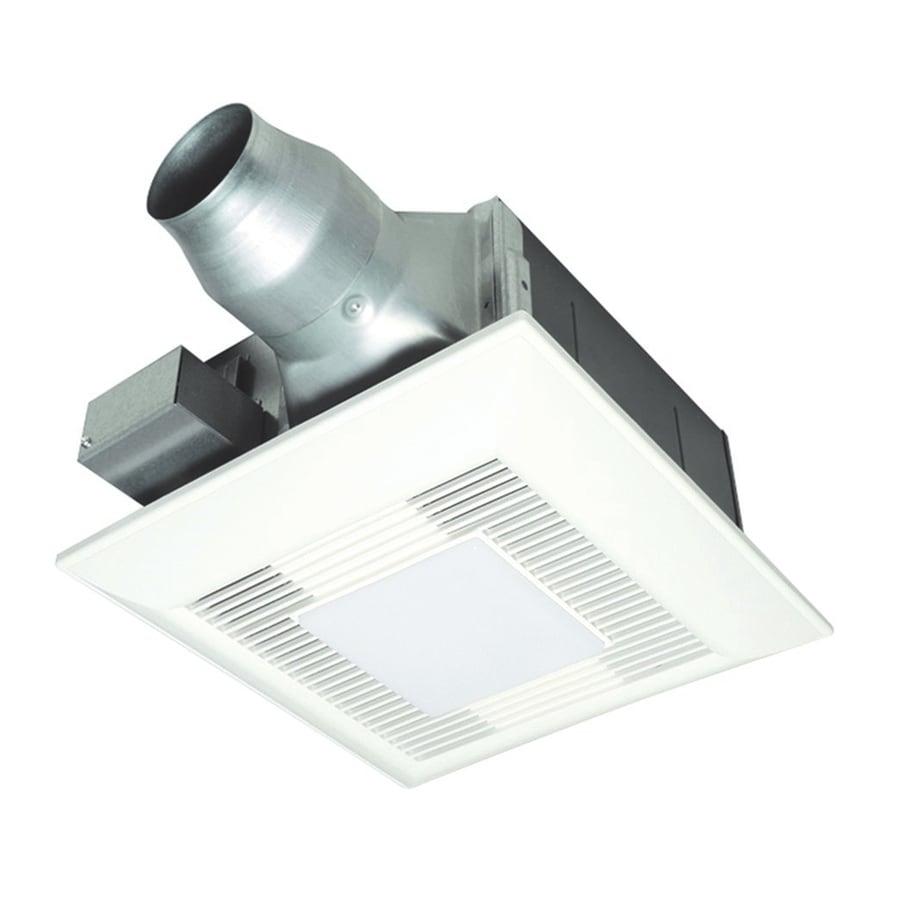 Shop Panasonic Sones CFM White Bathroom Fan With Room And - Panasonic bathroom fan with night light