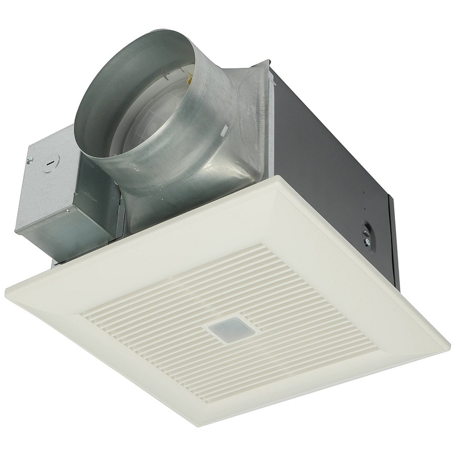 Shop panasonic 0 3 sone 150 cfm white bathroom fan energy for 6 bathroom exhaust fan