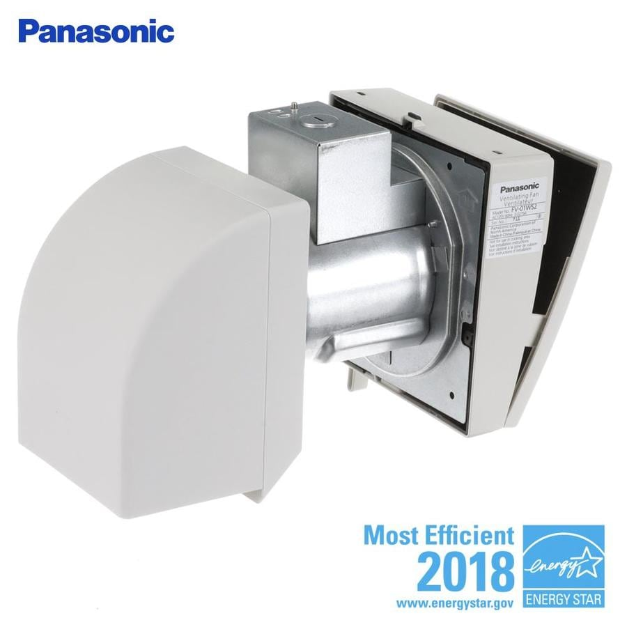 Panasonic 0.3-Sone 10-CFM White Bathroom Fan
