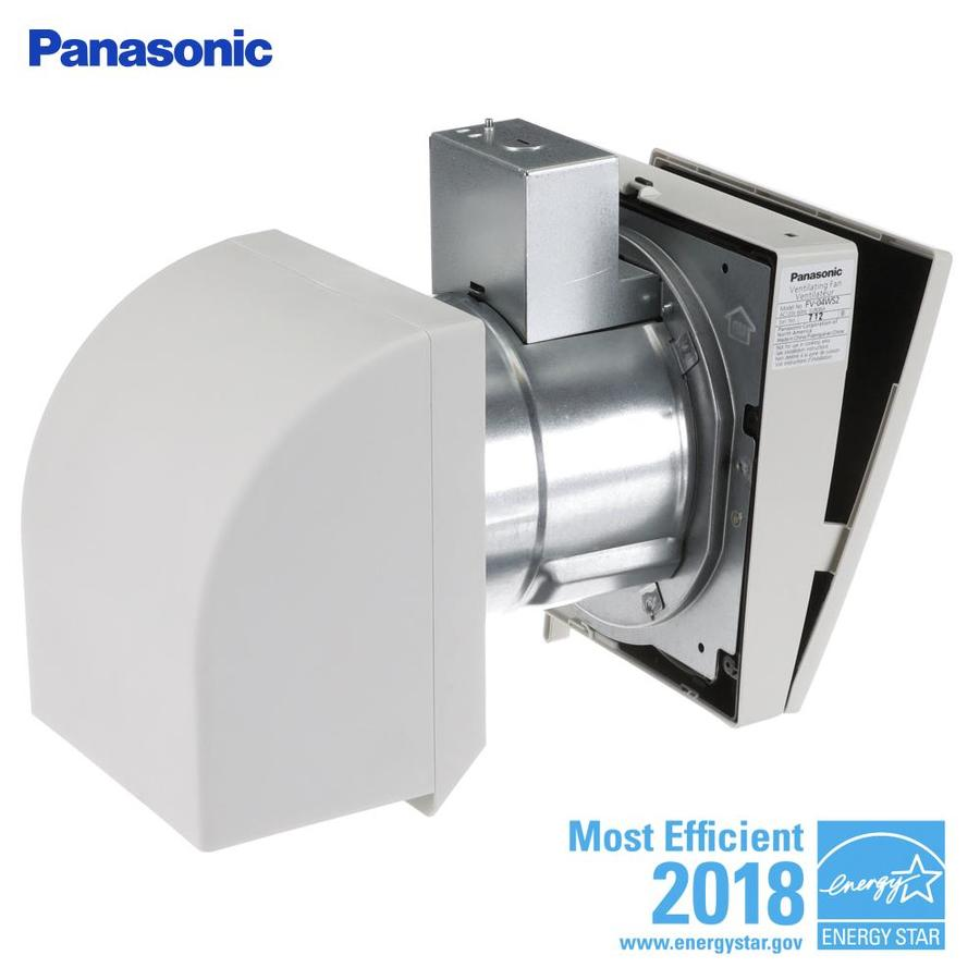 Shop panasonic 40 cfm white bathroom fan at for Bathroom exhaust fan lowes