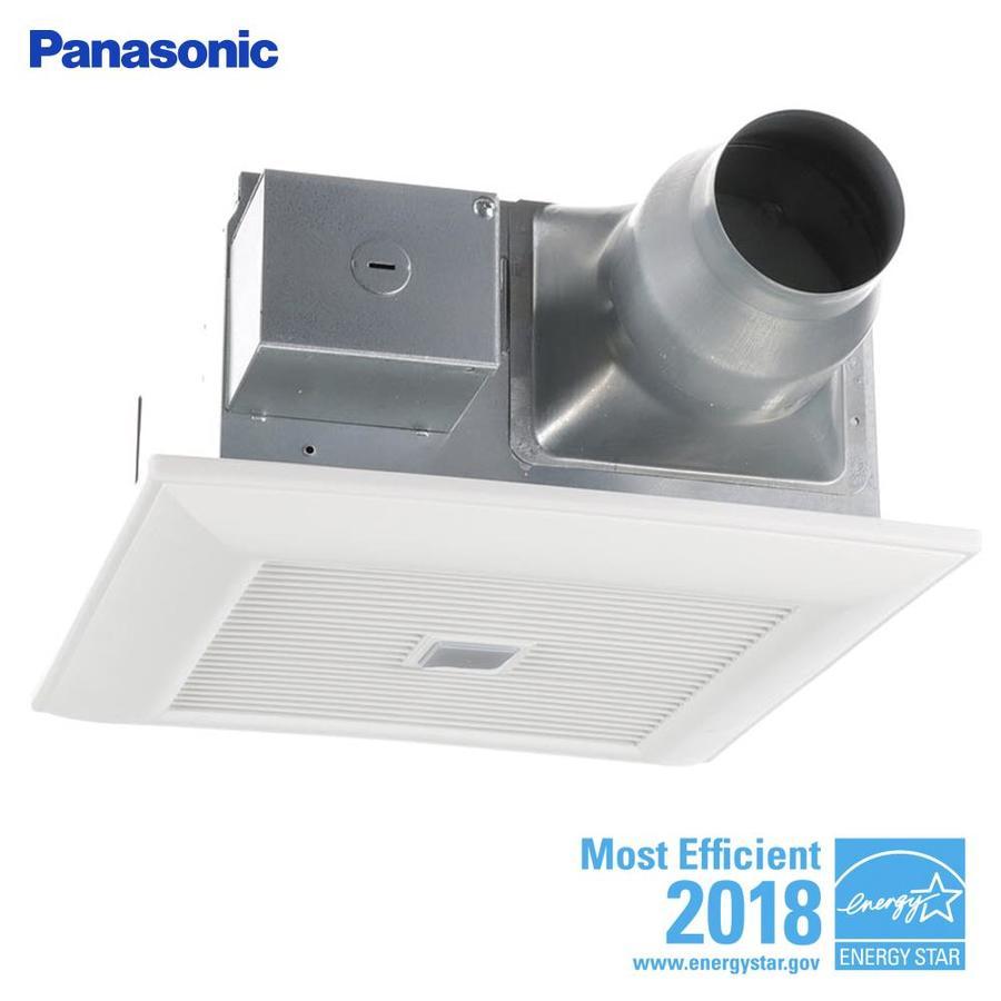 Shop panasonic whisperfit 0 3 sone 110 cfm white bathroom fan energy star at for Panasonic whisperfit ez bathroom fan 80 or 110 cfm