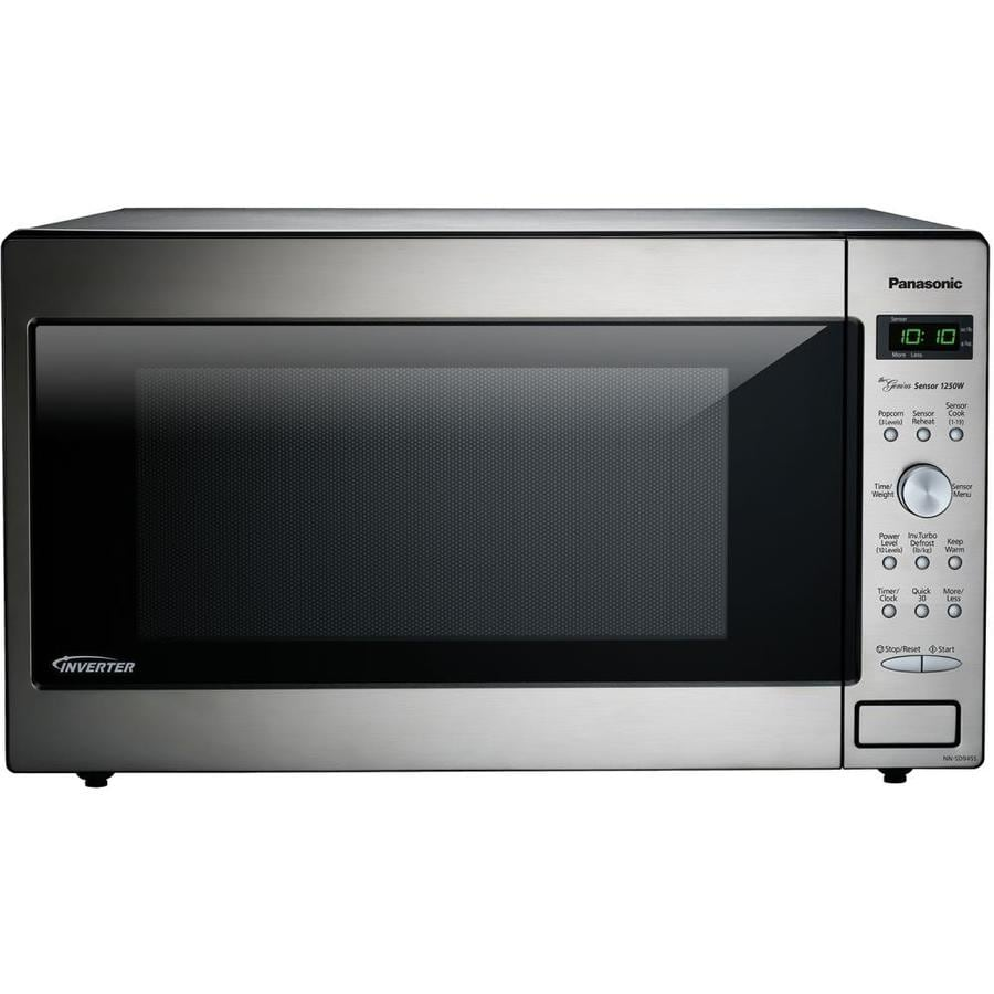 Panasonic 2 Cu Ft 1250 Watt Countertop Microwave Stainless Steel