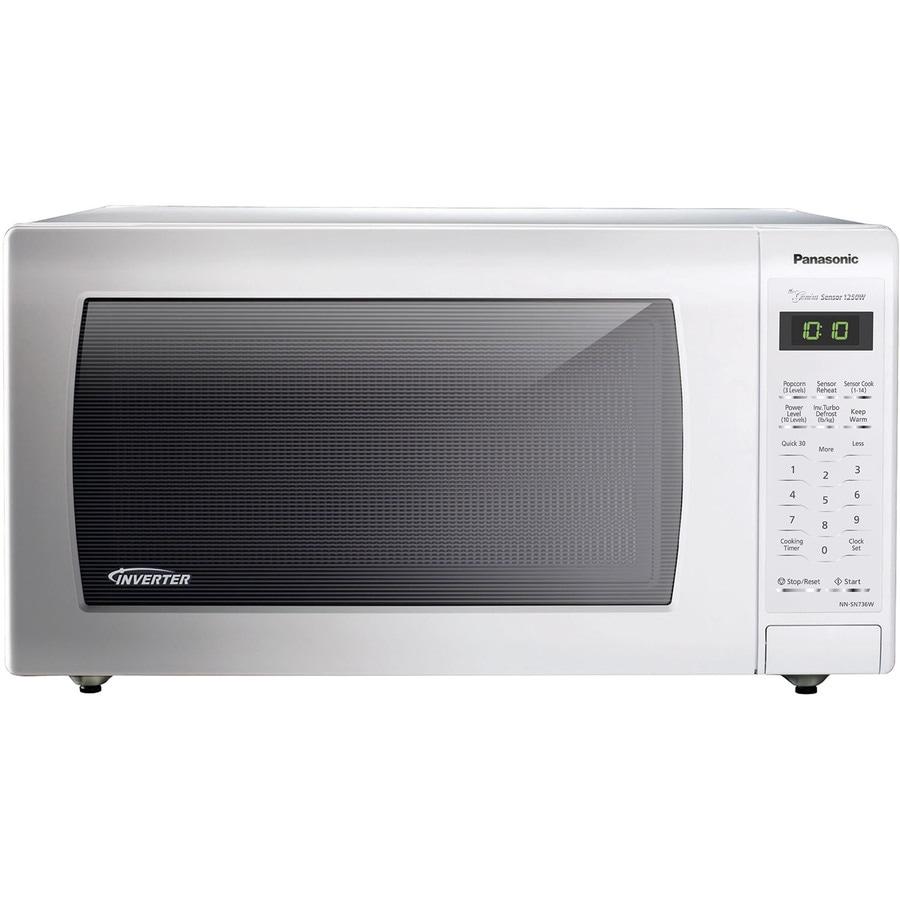 Panasonic 1.6-cu ft 1250-Watt Countertop Microwave (White ...