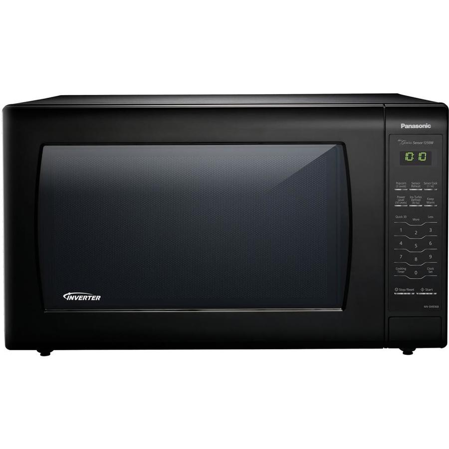 Panasonic 2 2 Cu Ft 1250 Watt Countertop Microwave Black