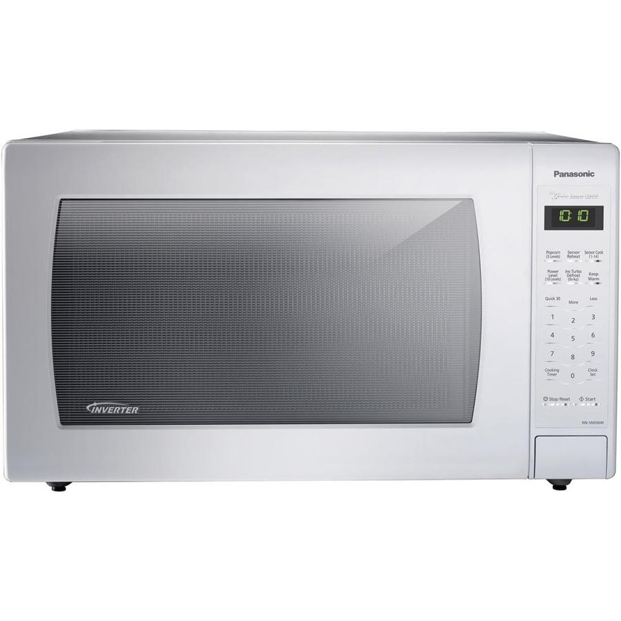 Panasonic 2 Cu Ft 1250 Watt Countertop Microwave White