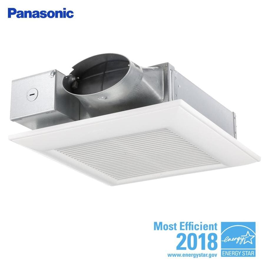 Panasonic Whisperwarm 110 Cfm Ceiling Exhaust Bath Fan: Panasonic WhisperValue 0.3-Sone 110-CFM White Bathroom Fan