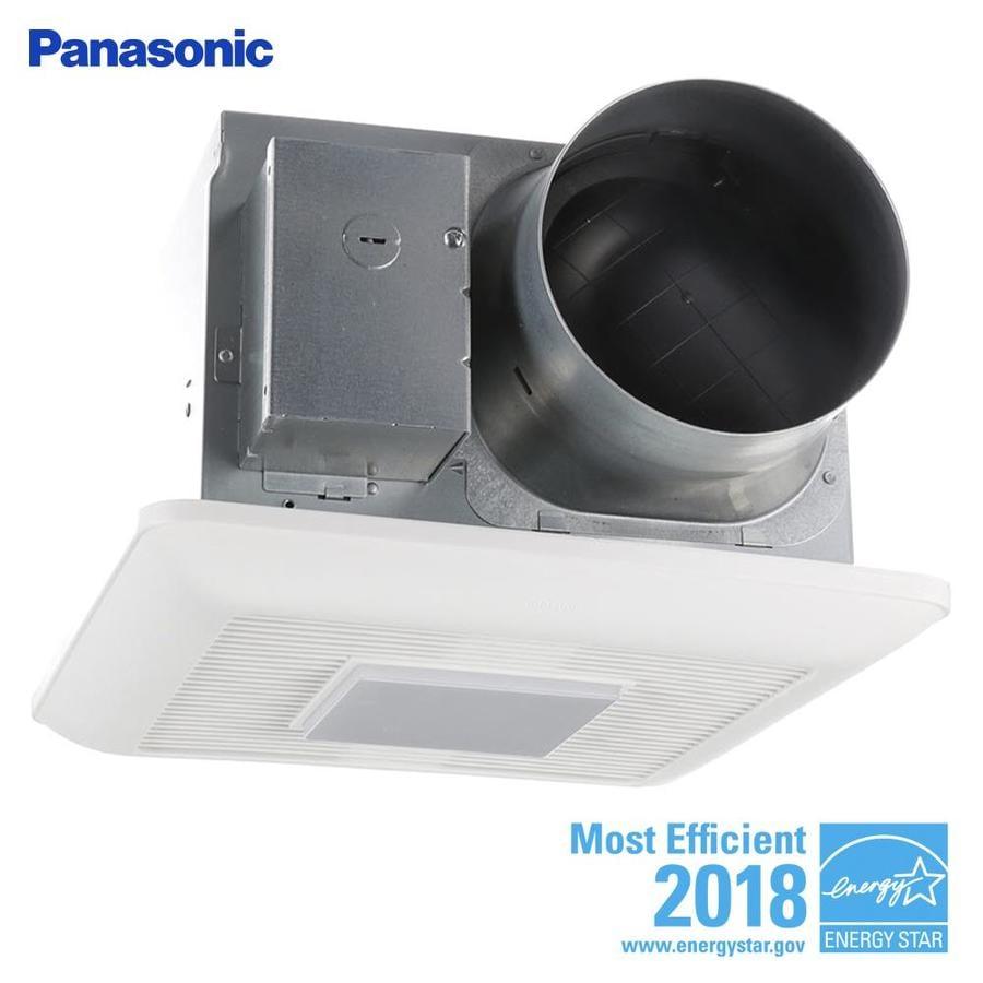 Shop Broan 0 3 Sone 110 Cfm White Bathroom Fan Energy Star: Shop Panasonic WhisperCeiling 0.3-Sone 150-CFM White
