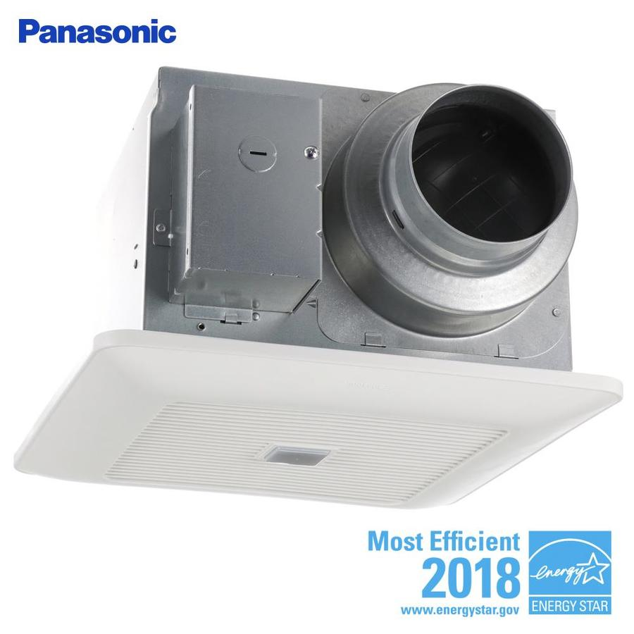 Panasonic Whisperwarm 110 Cfm Ceiling Exhaust Bath Fan: Panasonic WhisperSense 0.3-Sone 110-CFM White Bathroom Fan