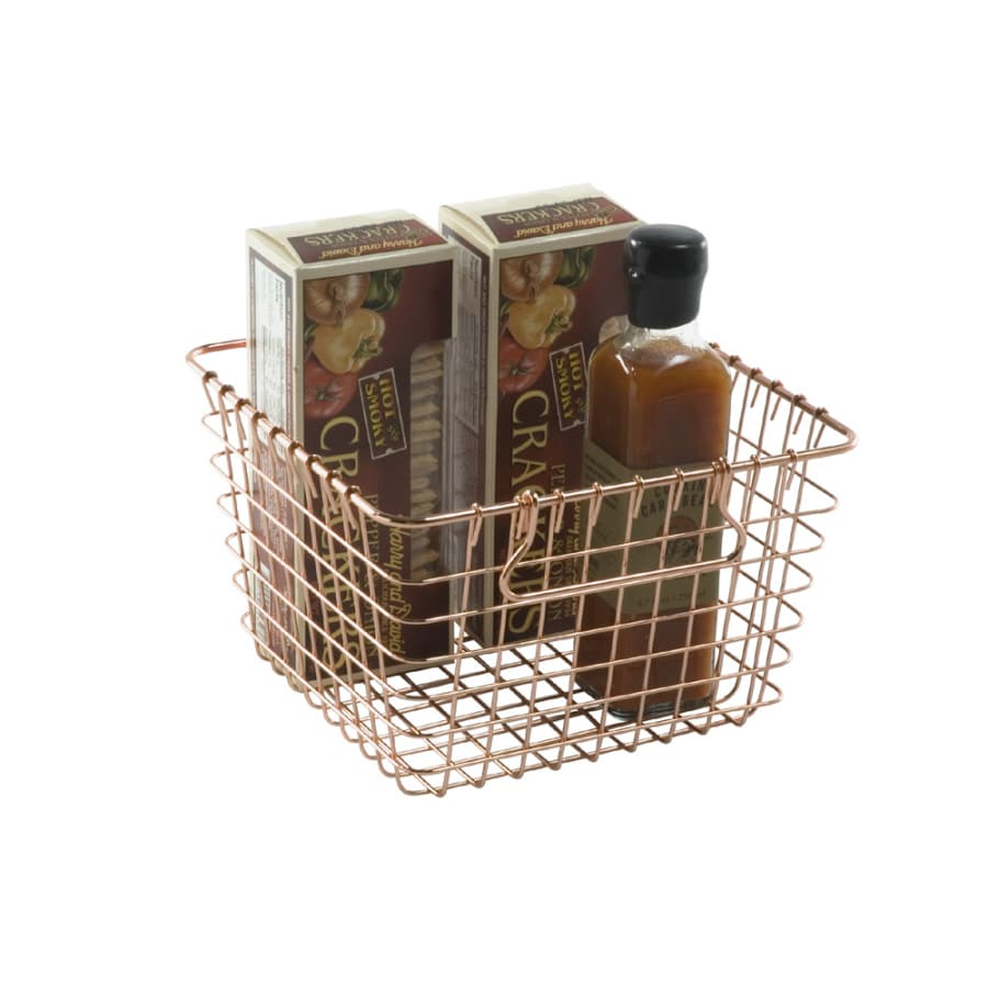 Shop Real Organized Wire Copper Plated Basket at Lowes.com