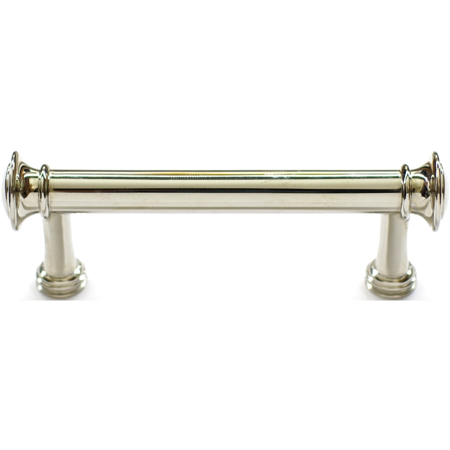 Shop allen roth 3 in center to center polished nickel for 3 kitchen cabinet handles