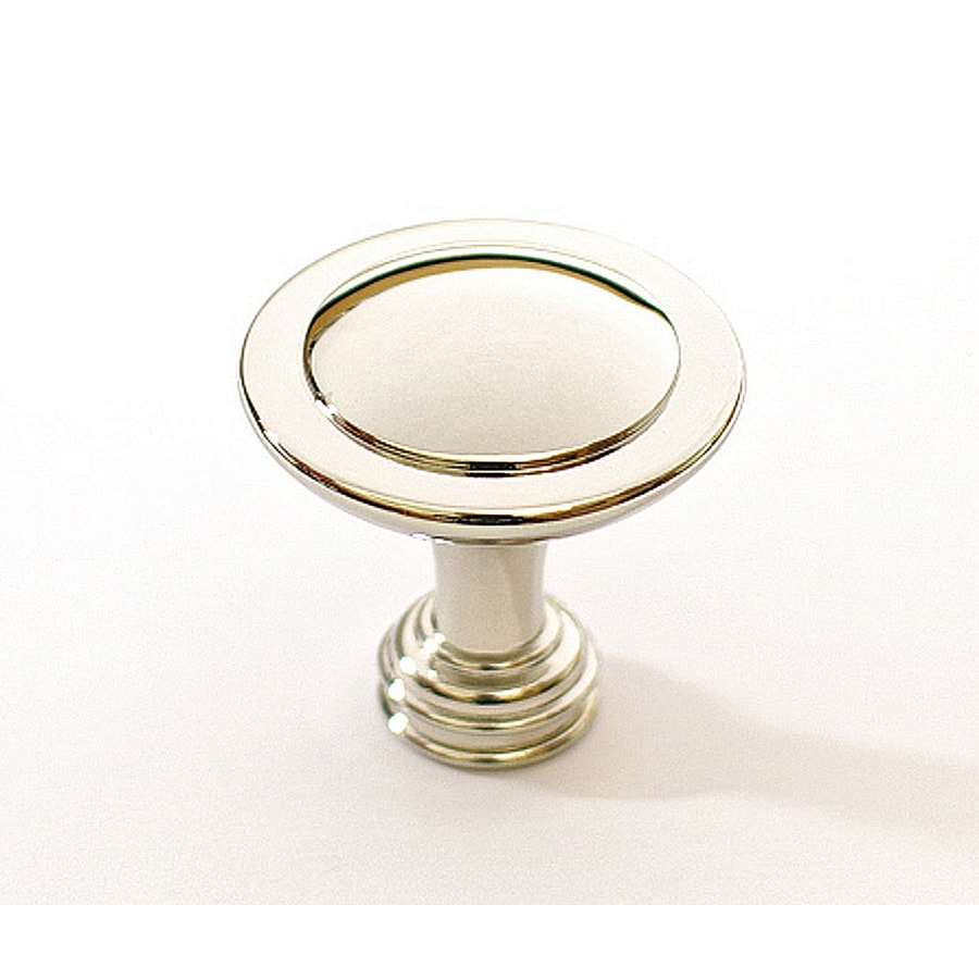 allen + roth Polished Nickel Round Cabinet Knob