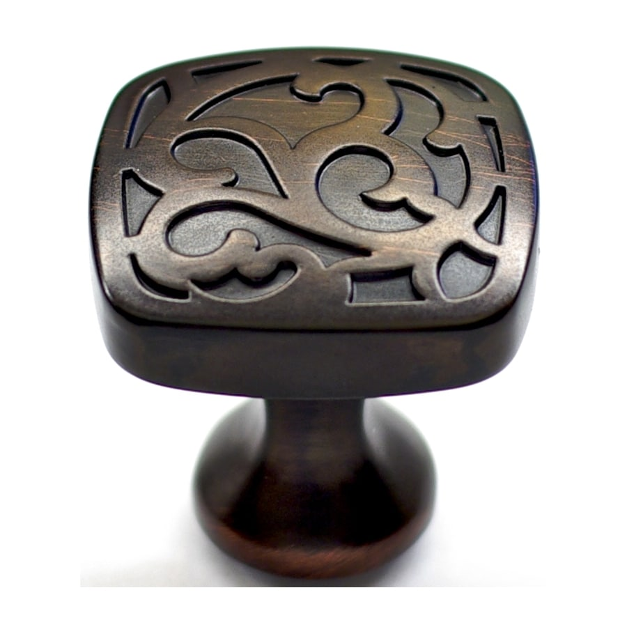 Shop Allen Roth Aged Bronze Round Cabinet Knob At