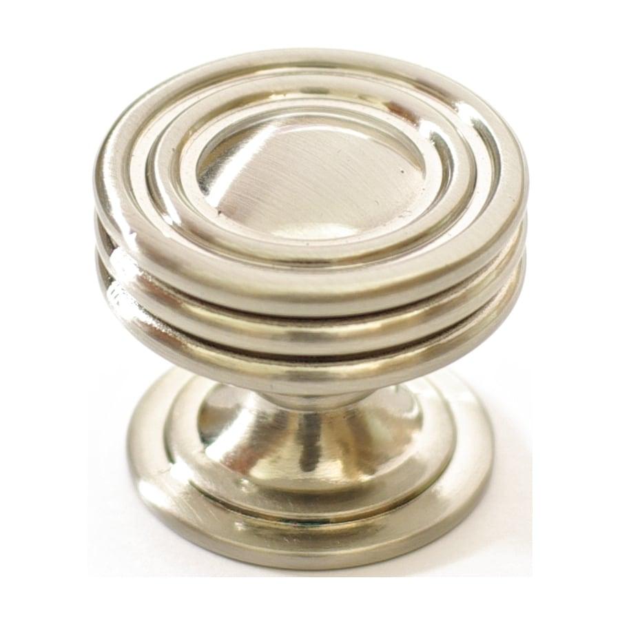 allen + roth Satin Nickel Round Cabinet Knob