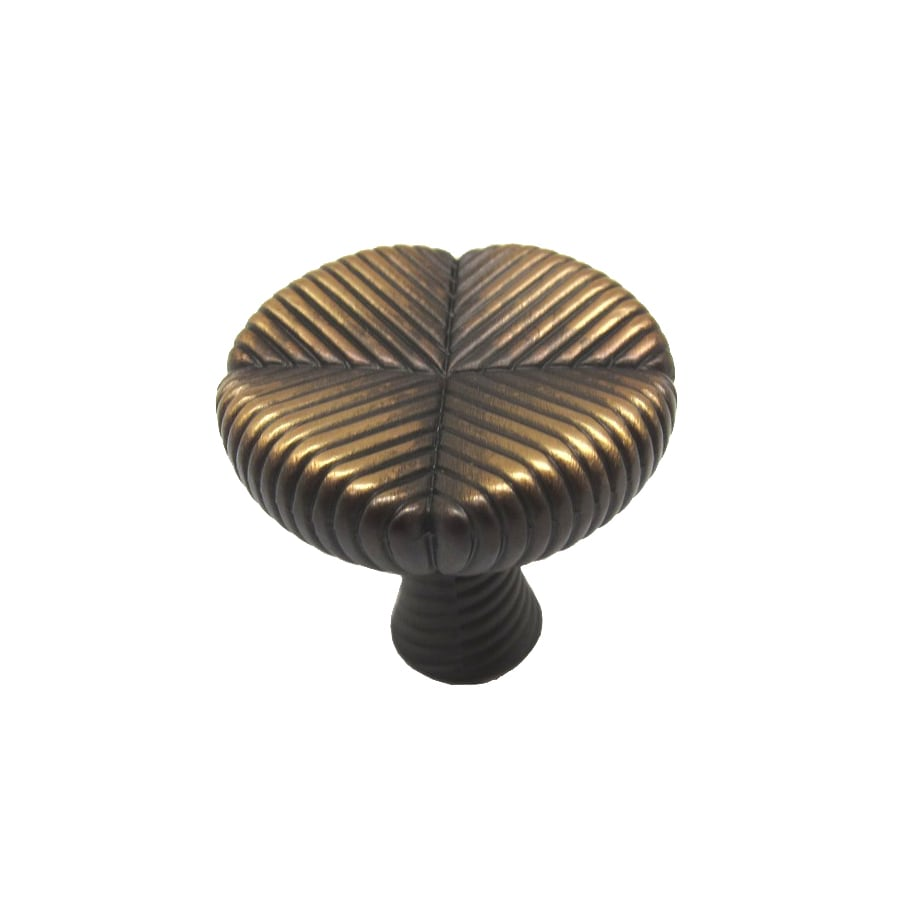 allen + roth Aged Brass Round Cabinet Knob