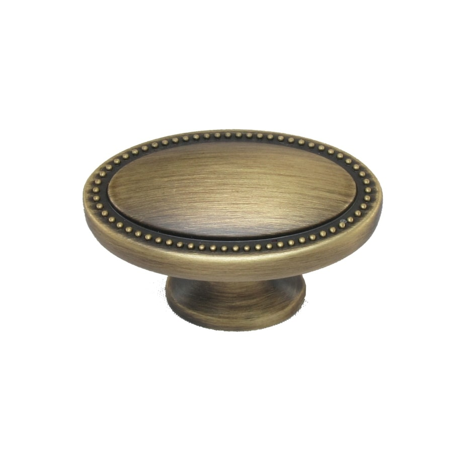 allen + roth Aged Brass Oval Cabinet Knob