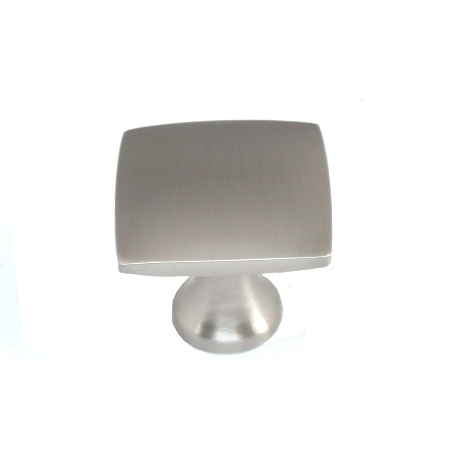 Shop allen roth brushed satin nickel square cabinet knob for Square kitchen cabinet knobs