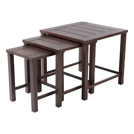 allen + roth Nesting Square Outdoor Coffee Table 23.6-in W x 23.6-in L