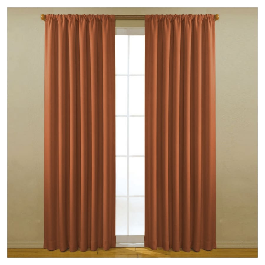 eclipse 63-in L Spice Curtain Curtain Panel