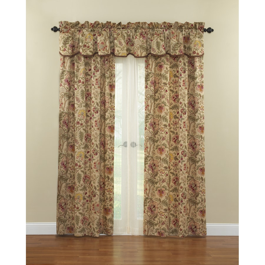 Waverly Imperial Dress 84 In Antique Cotton Rod Pocket Single Curtain Panel