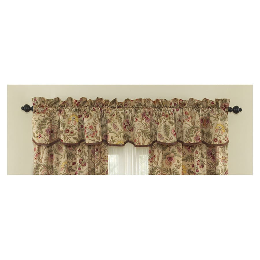 Shop Waverly Home Classics 15-in Antique Cotton Rod Pocket Valance ...