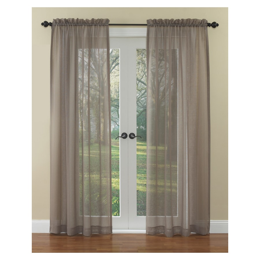 Shop Waverly Waverly Home Classics 84 In L Solid Mocha Rod Pocket Sheer Curtain At