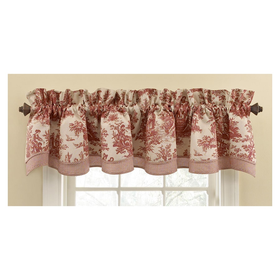 Waverly Home Classics 14-in Garnet Cotton Rod Pocket Valance